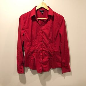 le chateau - Red Button-up Blouse